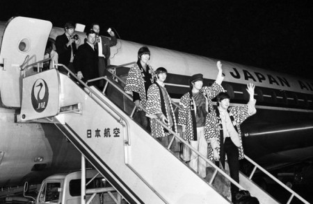 Beatles llegada a Japon