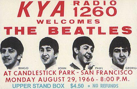 Ticket del concierto en el Candlestick Park