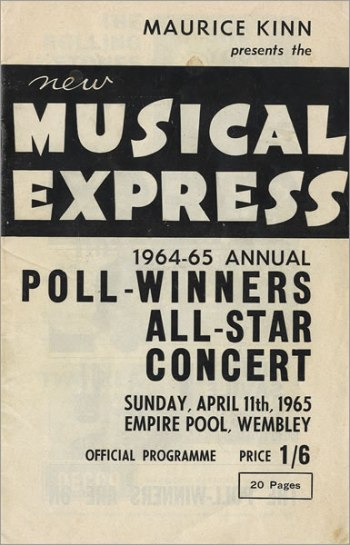 Afiche del concierto en el Annual Poll-Winners' All-Star Concert.