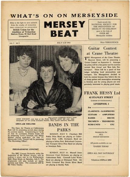 Portada de la primera edición del Mersey Beat.